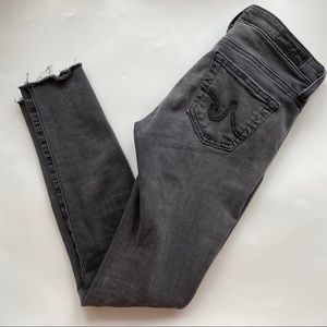 """AG """"The Legging Ankle"""" Aged Denim Distressed Jeans"""